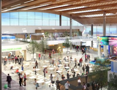 BNA to Close Center of Terminal Lobby as Expansion Continues