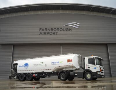 Farnborough Offers Sustainable Aviation Fuel for Lower Emission Flights
