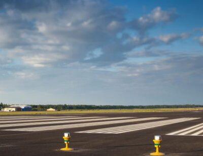 Mariehamn Airport's Renovated Runway Shines in New Lighting