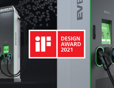 EVBox Electric Vehicle Fast Charging Station Wins iF DESIGN AWARD