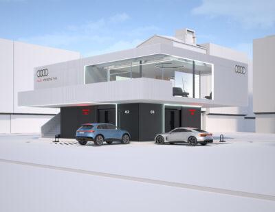 Audi Pilots Hub Concept for Quick Charging