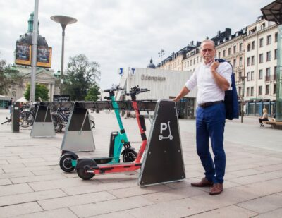100 New e-Scooter Parking Racks to Reduce Clutter in Stockholm