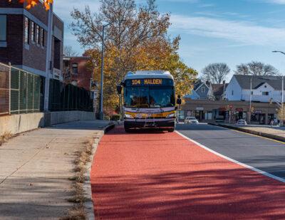 New Bus Lanes and Bus Network for Malden, Massachusetts
