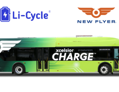 Li-Cycle and New Flyer Team up for Heavy-Duty Battery Recycling Pilot