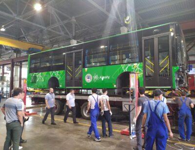 150 Golden Dragon 12-Meter BRT Buses Shipped to Kazakhstan