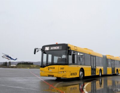 A Solaris Bus at the Gateway to the Arctic