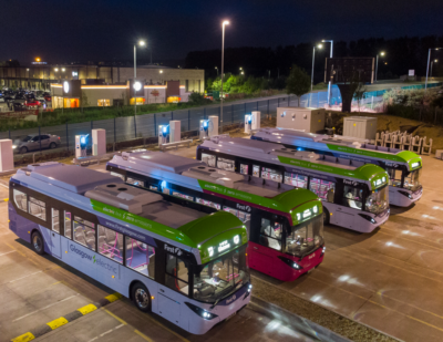 UK's Largest Bus Depot Charges Electric Buses in Four Hours