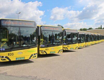 14 Electric Solaris Buses Arrive in Sosnowiec